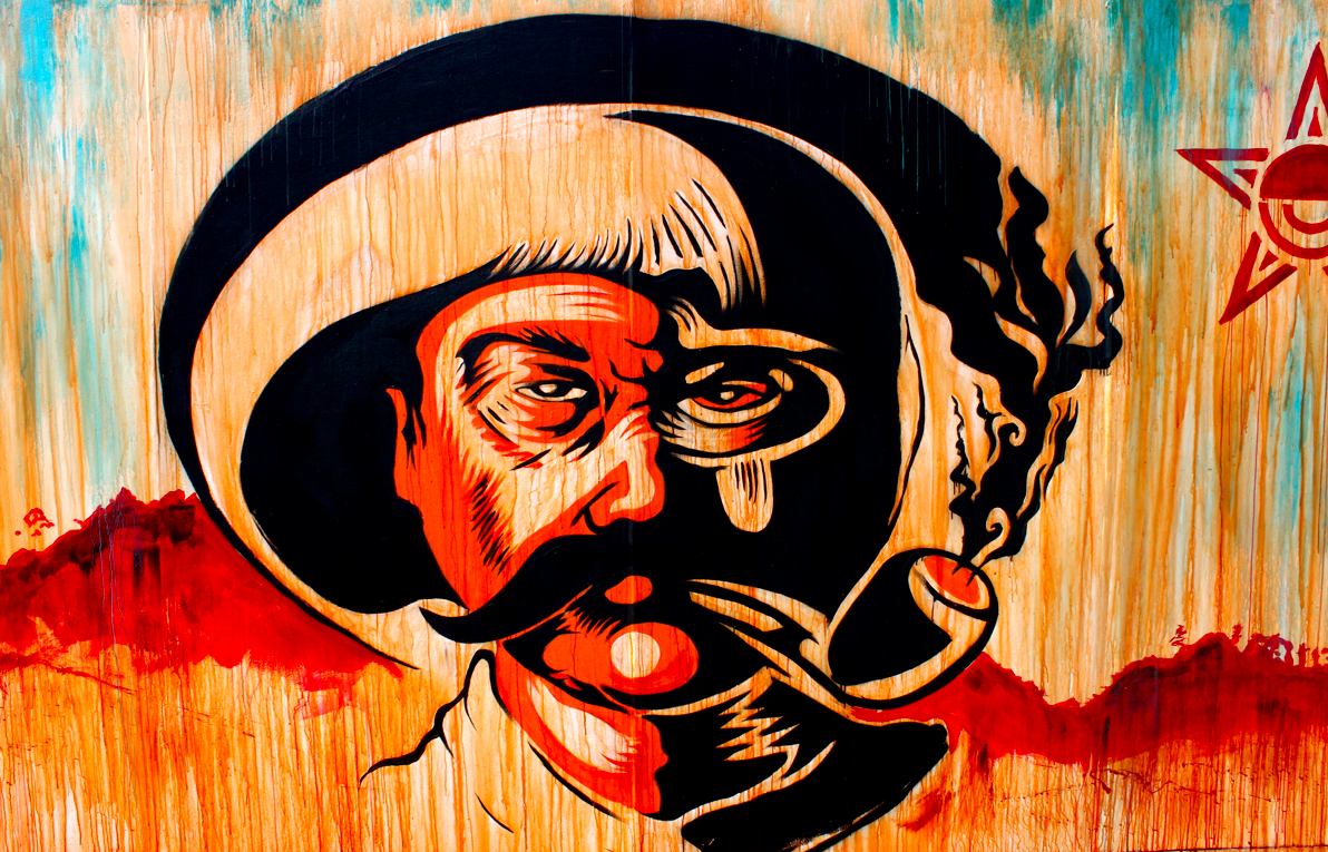 Votan zapatista oscar magallanes for Mural zapatista